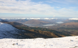 View from Aonach Mor
